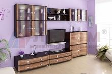 ОЛИВИЯ Мебель для гостиной в цвете Слива Валис