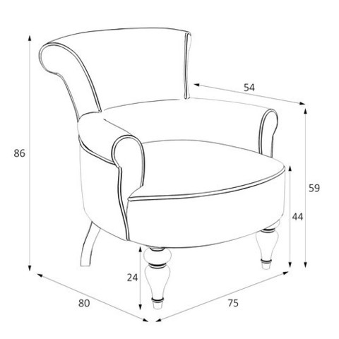 Кресло Перфетто размеры