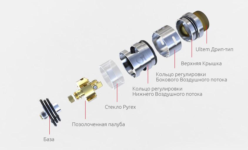 Конструкция iJOY RDTA 5s