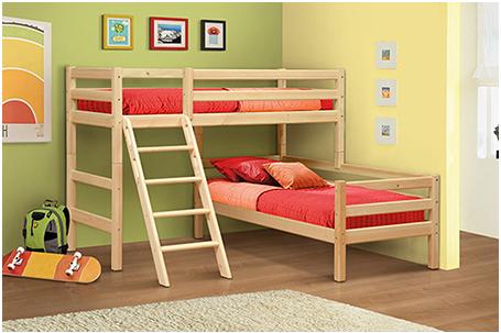 Двухъярусная кровать из массива Мезонин 82