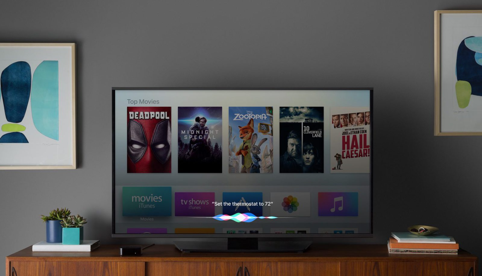 Apple TV 4 Gen 4K - ТВ плеер Apple TV.