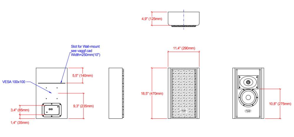 Настенная акустика Procella P6V