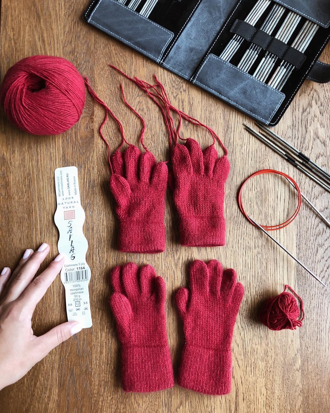 детские перчатки из монгольского кашемира