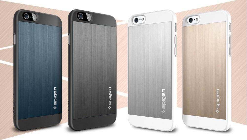 Защитные накладки с металлической вставкой Sgp Spigen Case Aluminum Fit для iPhone 6 и 6s.