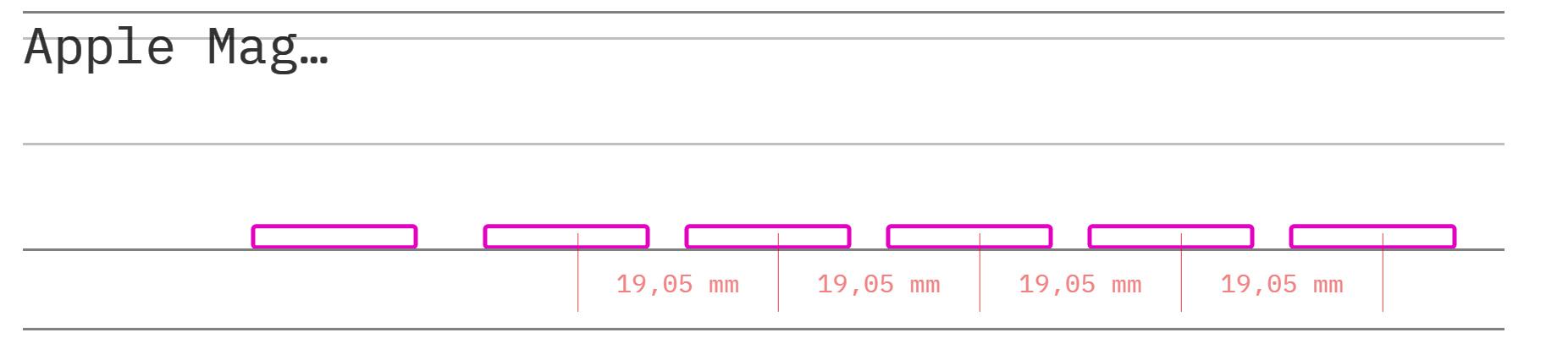 Apple Mag профиль вид сбоку