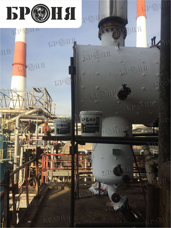 Астраханская область. Теплоизоляция камеры ребойлера установки на Астраханском Газоперерабатывающем заводе ОАО Газпром.