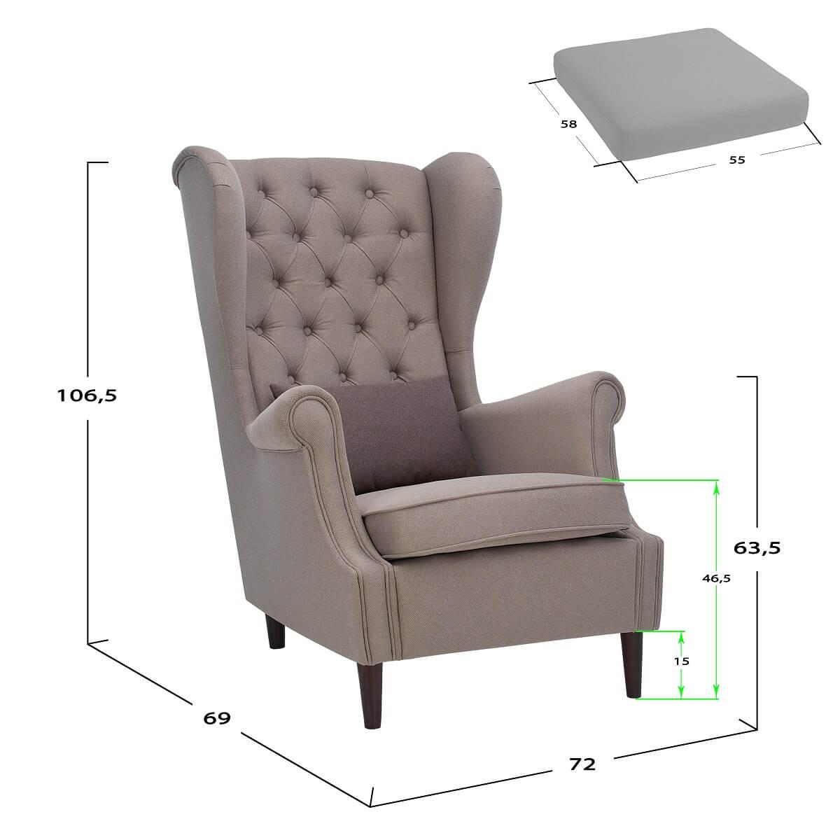 Каминное кресло для отдыха Винтаж - Leset-mebel.ru