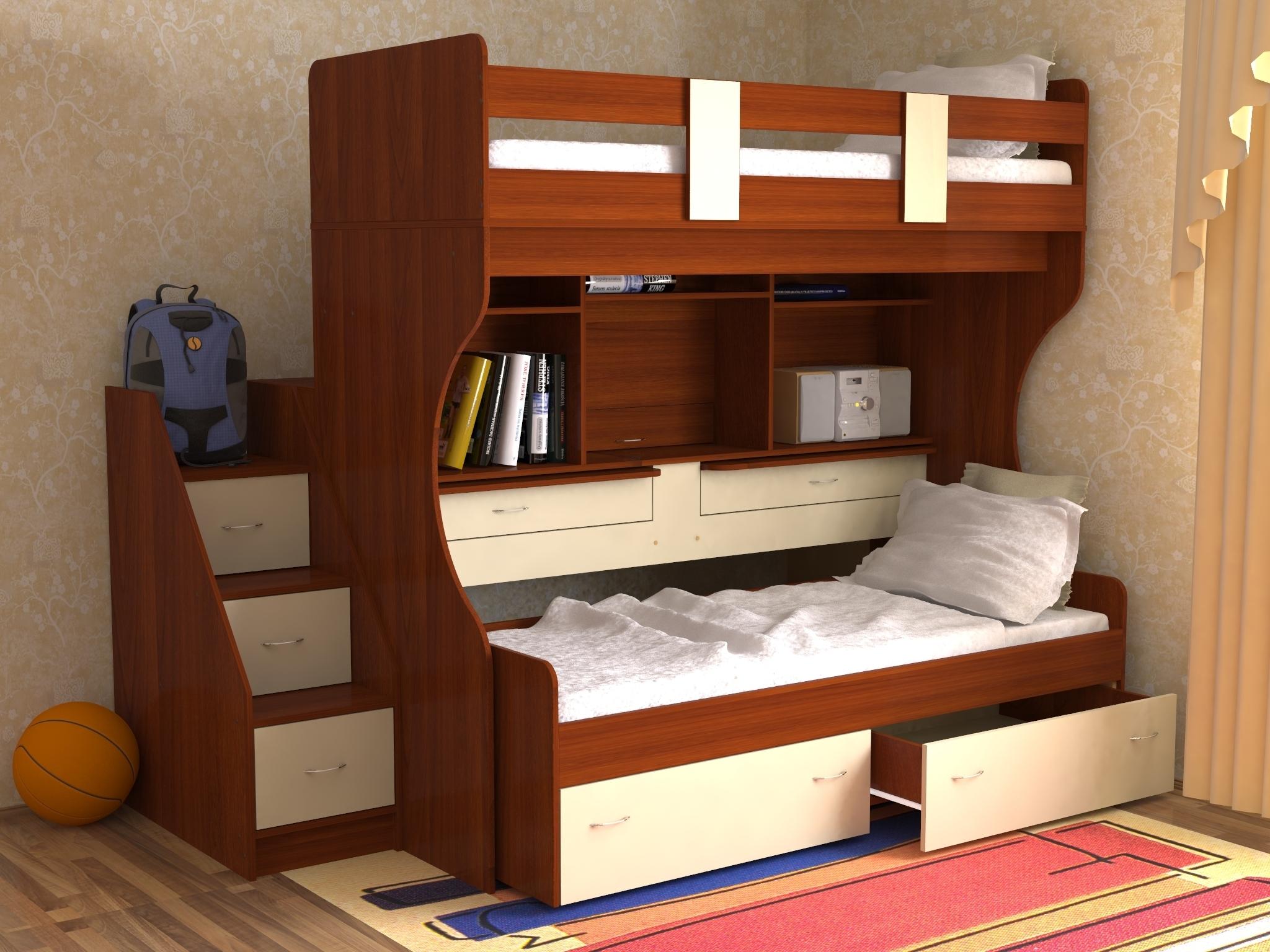 кровать-трансформер дуэт 4