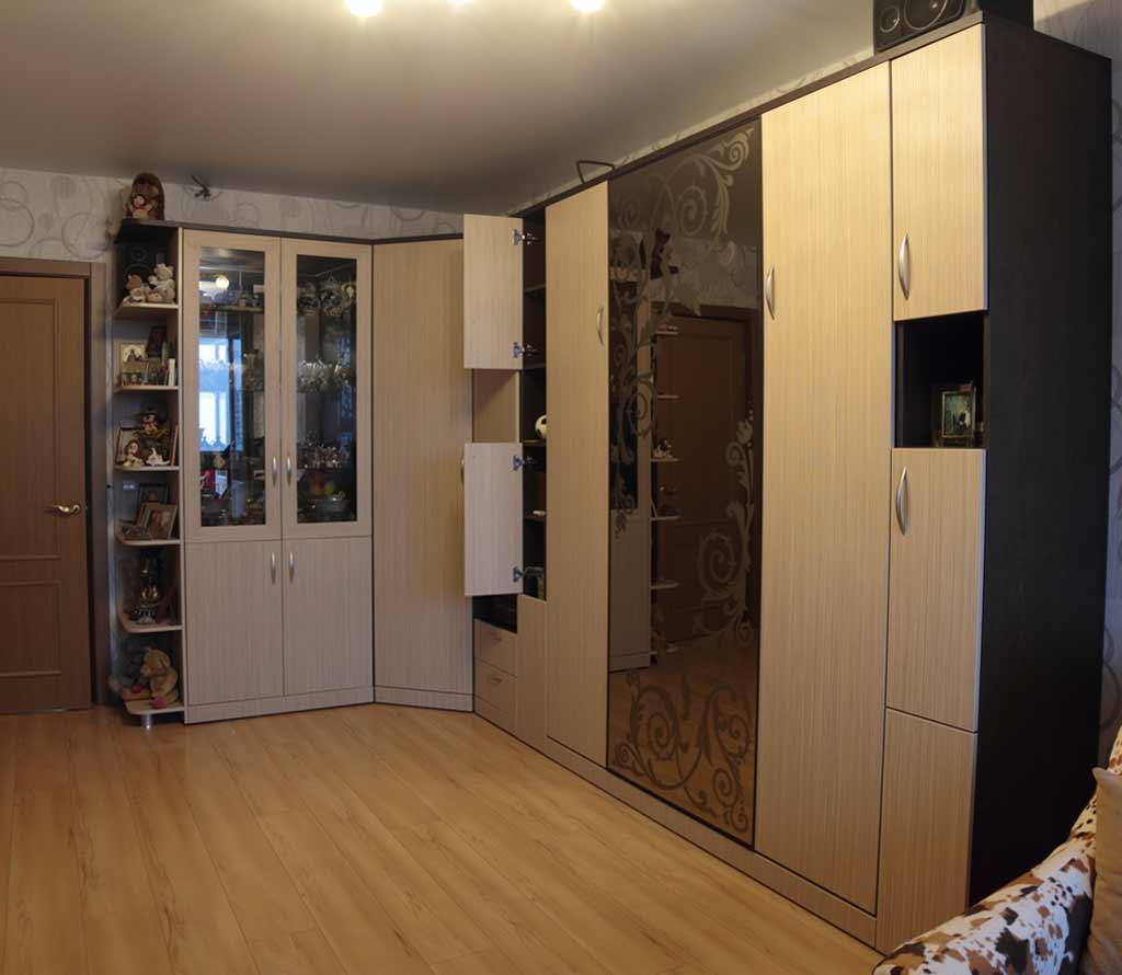 Шкаф-кровать трансформер Глория с зеркалом