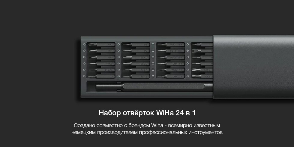 Набор отверток Xiaomi Wiha 24-в-1