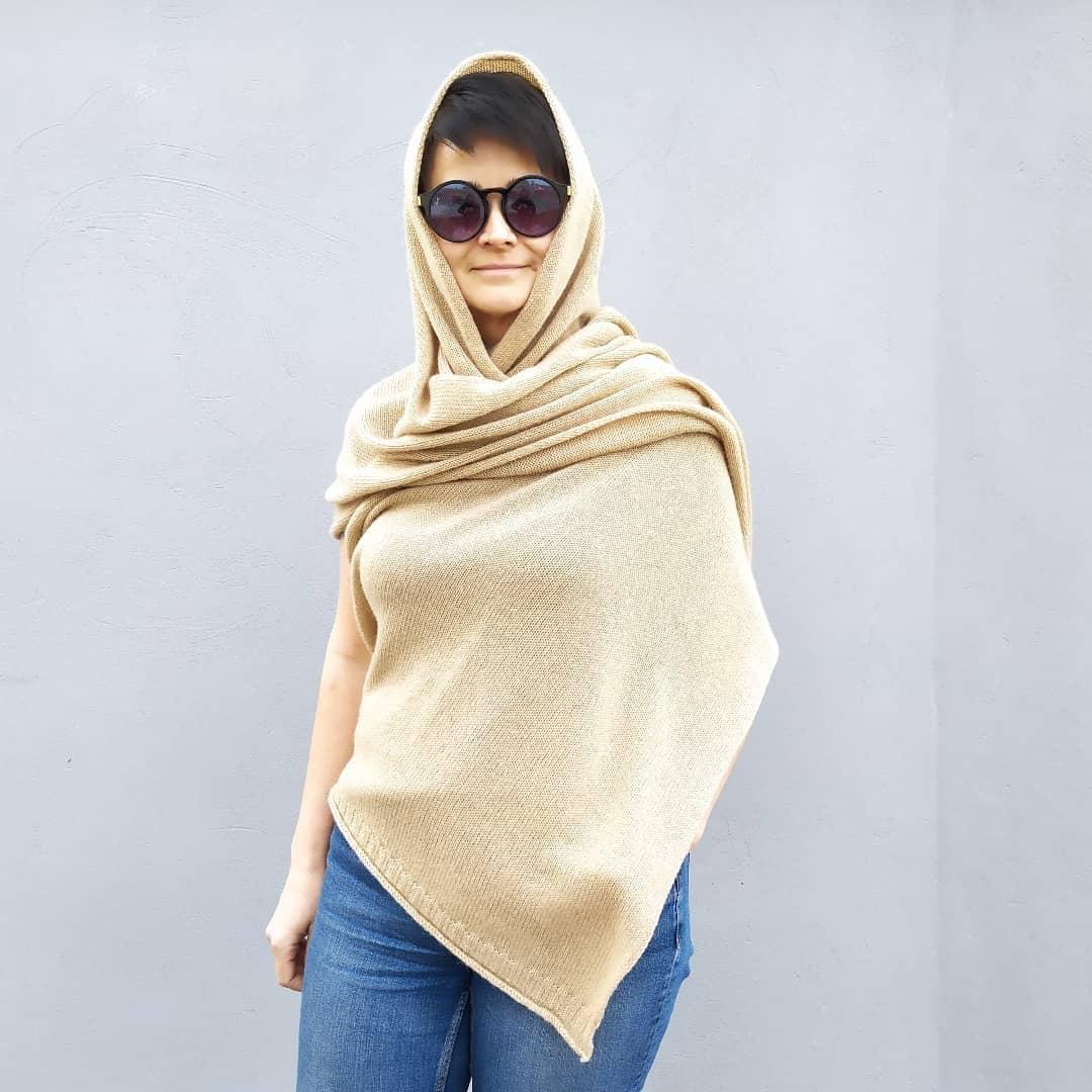 палантин sarlag camel yarn