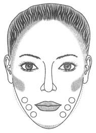 Коррекция треугольной формы лица