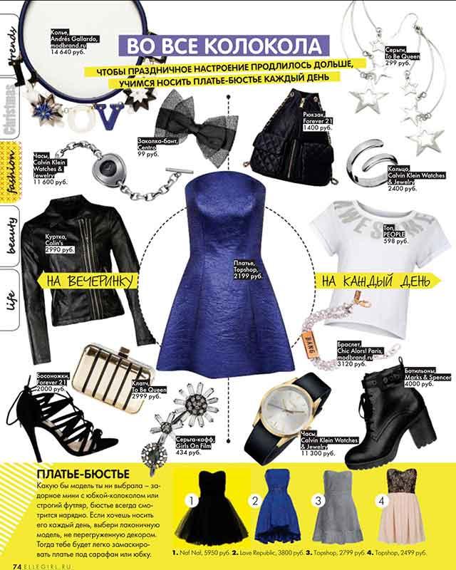 Колье из фарфора Love Burrow от ANDRES GALLARDO в декабрьском номере журнала Elle Girl