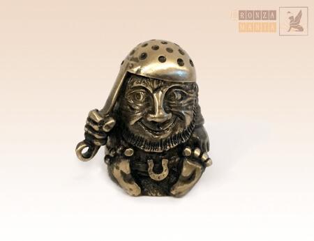 наперсток Домовой с ДУРШЛАГОМ - бронзовый коллекционный наперсток