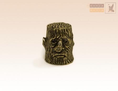 наперсток Леший - пень - бронзовый коллекционный наперсток