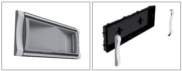 Коробка и рамка для встраиваемого монтажа аварийного эвакуационного светильника с аккумуляторной батареей Formula 65 LED Li-Fe