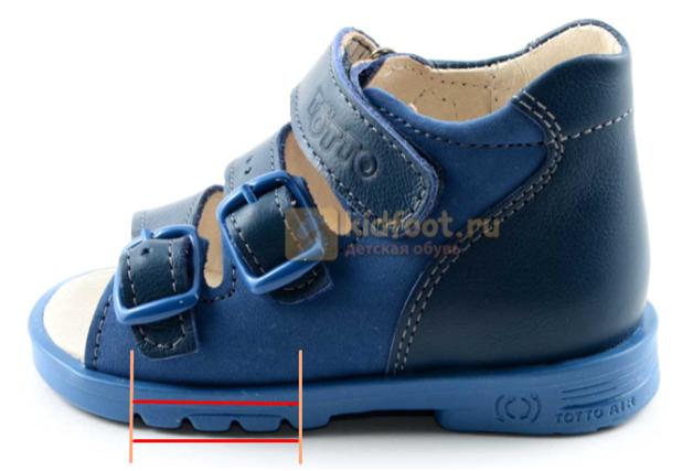 Подошвенный сгиб детской обуви Тотто