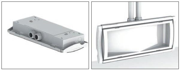 Кабельный ввод светильника аварийного эвакуационного с аккумулятором Formula 65 LED Li-Fe