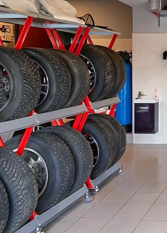 Модульные стеллажи для шин