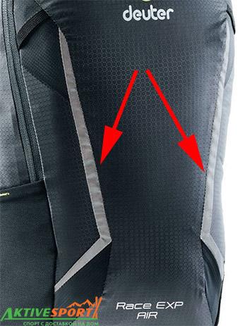 Большие светоотражающие вставки на рюкзаке deuter race exp air