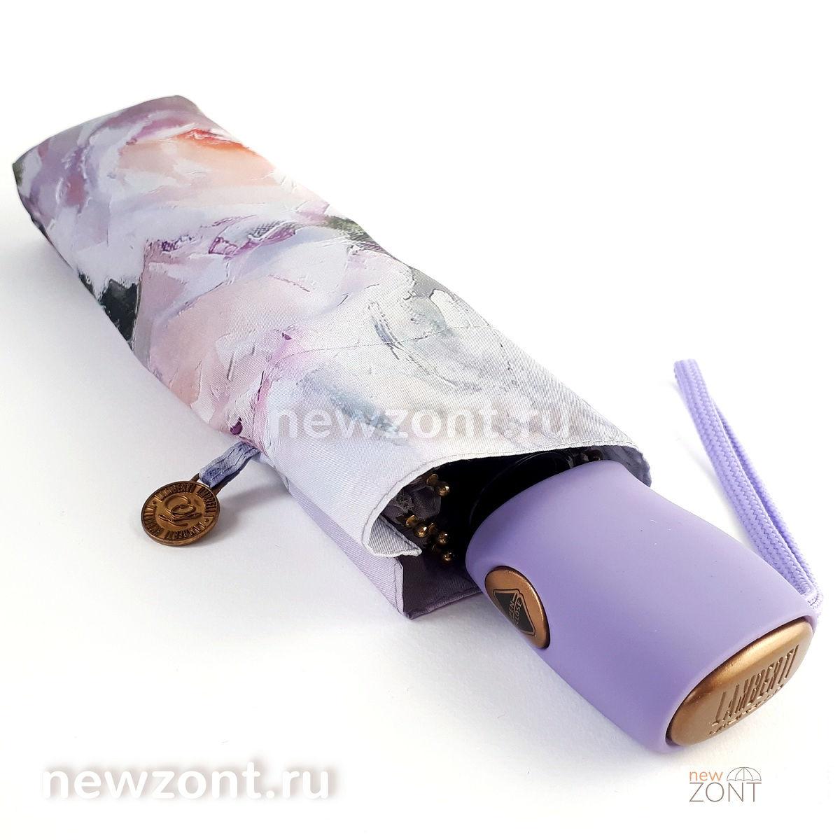 Плоский светло-фиолетовый зонтик Lamberti