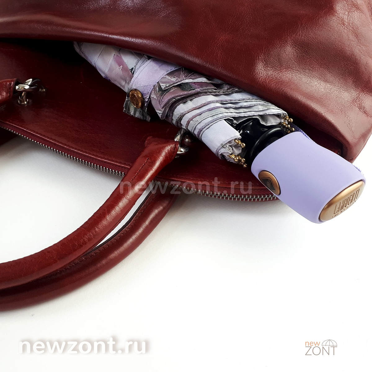 Плоский зонт автомат Ламберти
