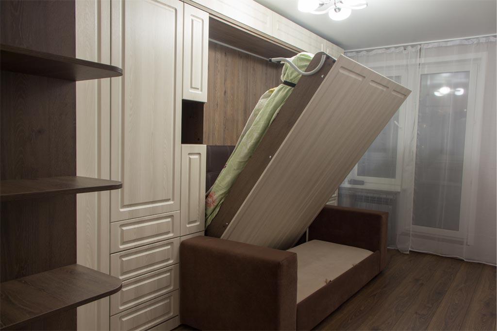 Шкаф-кровать Глория с фасадами МДФ