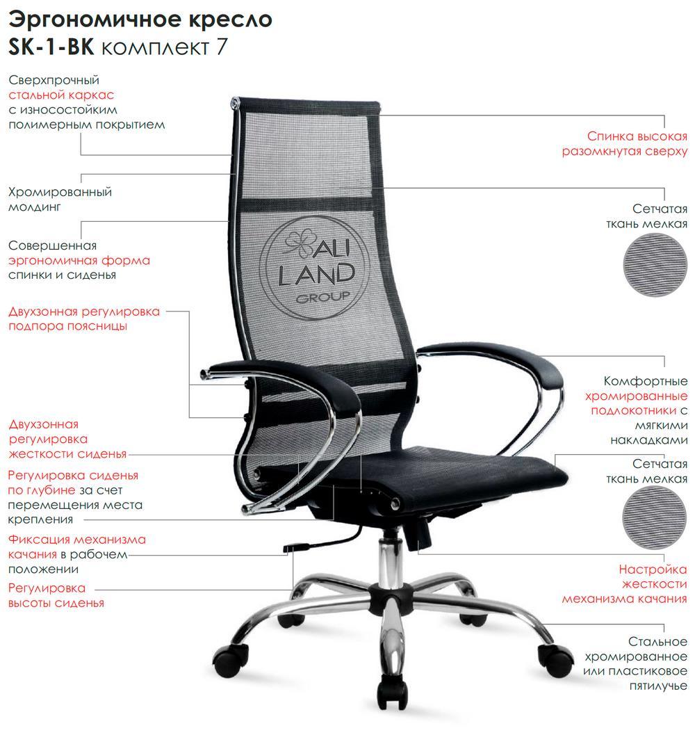 Особенности Кресла ЛАЙТ SAMURAI SK-1-BK, комплект № 7