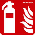 Стандартная пиктограмма пожарного указателя – огнетушитель