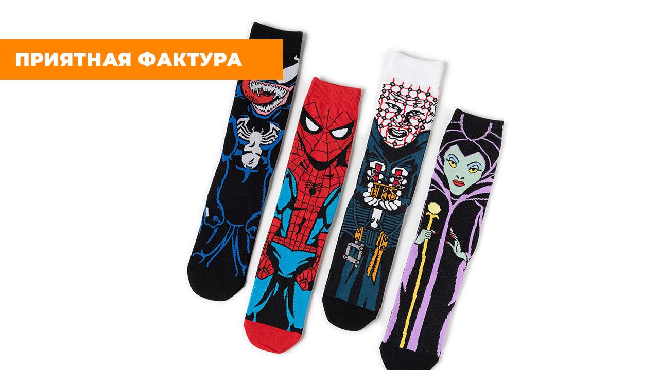 "Носки ""Человек-паук"" (размер 35-45)"