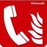 Стандартная пиктограмма пожарного указателя – Телефон для использования при пожаре