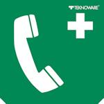 Стандартная пиктограмма светового пожарного указателя – телефон для скорой медицинской помощи