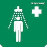 Стандартная пиктограмма светового пожарного указателя – душевые