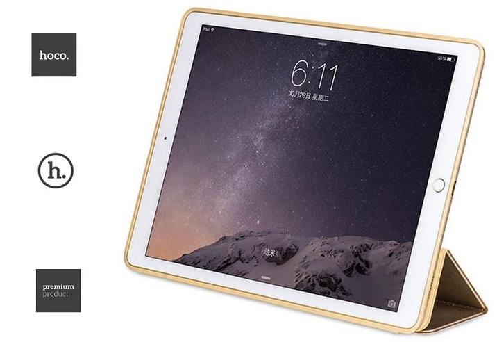 Кожаный чехол книжка-подставка премиум класса HOCO Sugar Leather Light Slim Blue для iPad Pro 12.9.