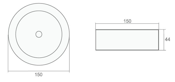 Размеры потолочного аварийного светильника с аккумулятором Starlet External SC