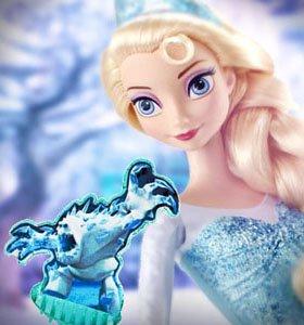Красавица Эльза в наборе с 3 снежинками и Зефиркой