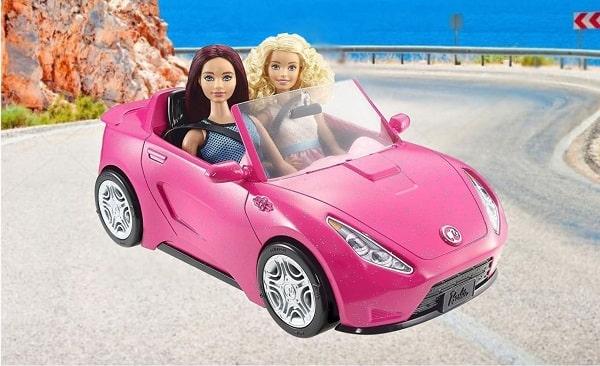 Розовый автомобиль для куклы Барби