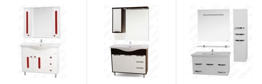 Мебель для ванны 100 и более см