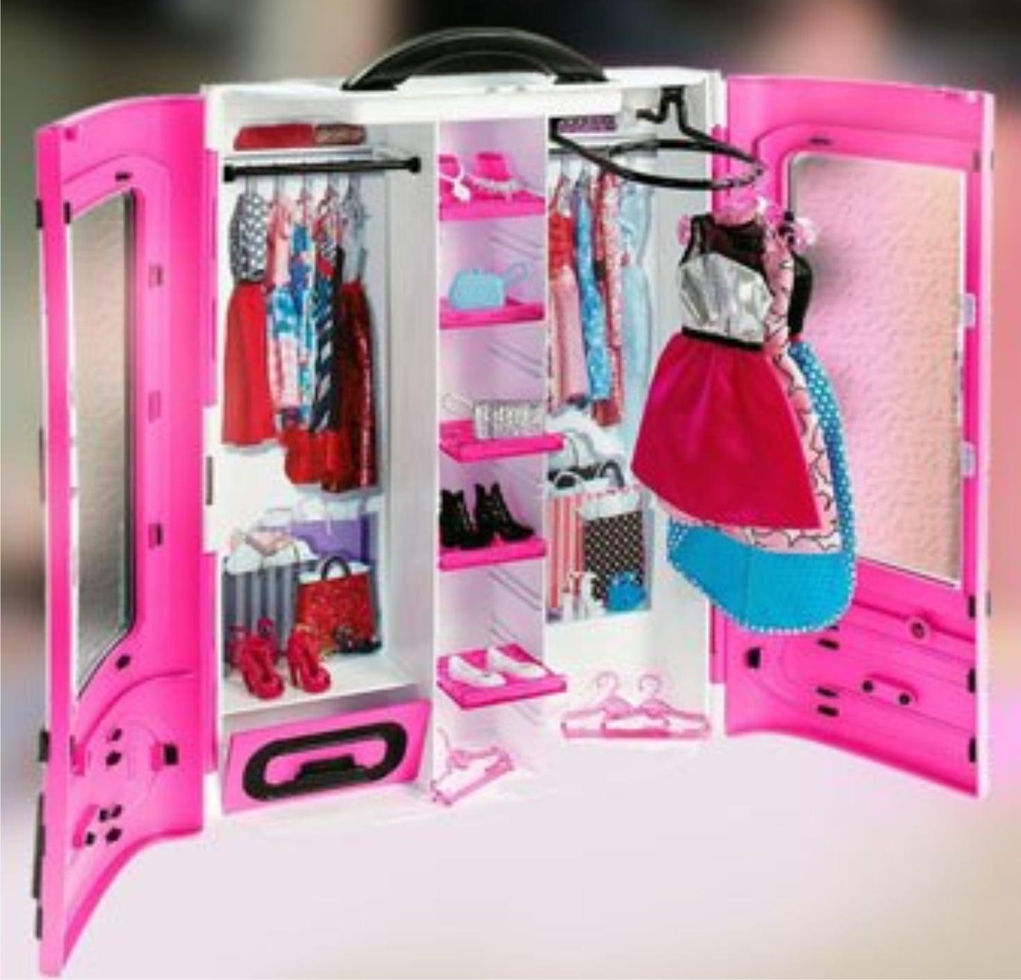 Розовый шкаф для Barbie