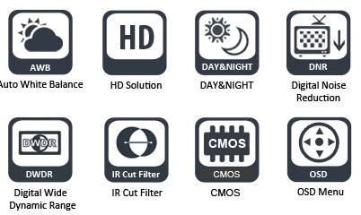 Экранное меню видеокамеры NARURE NVS-HA301IR