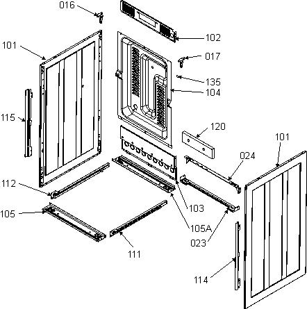 Корпус плиты Горенье E52102AW0