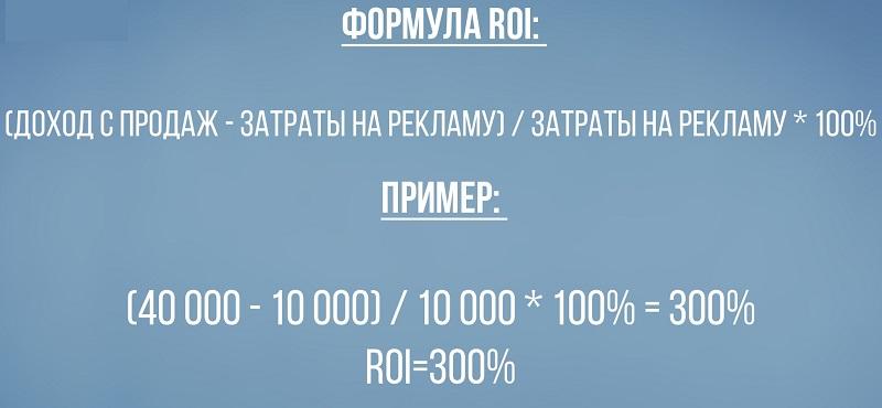 формулы ROI