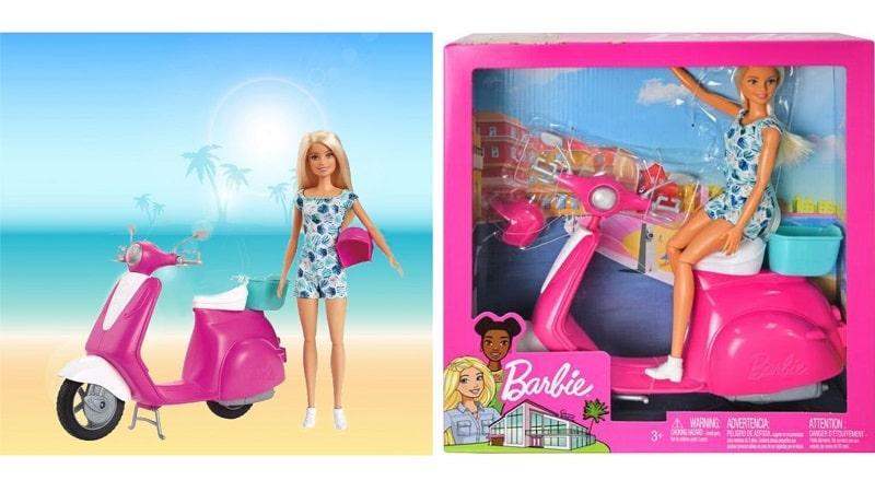 Игровой набор - скутер с куклой Barbie