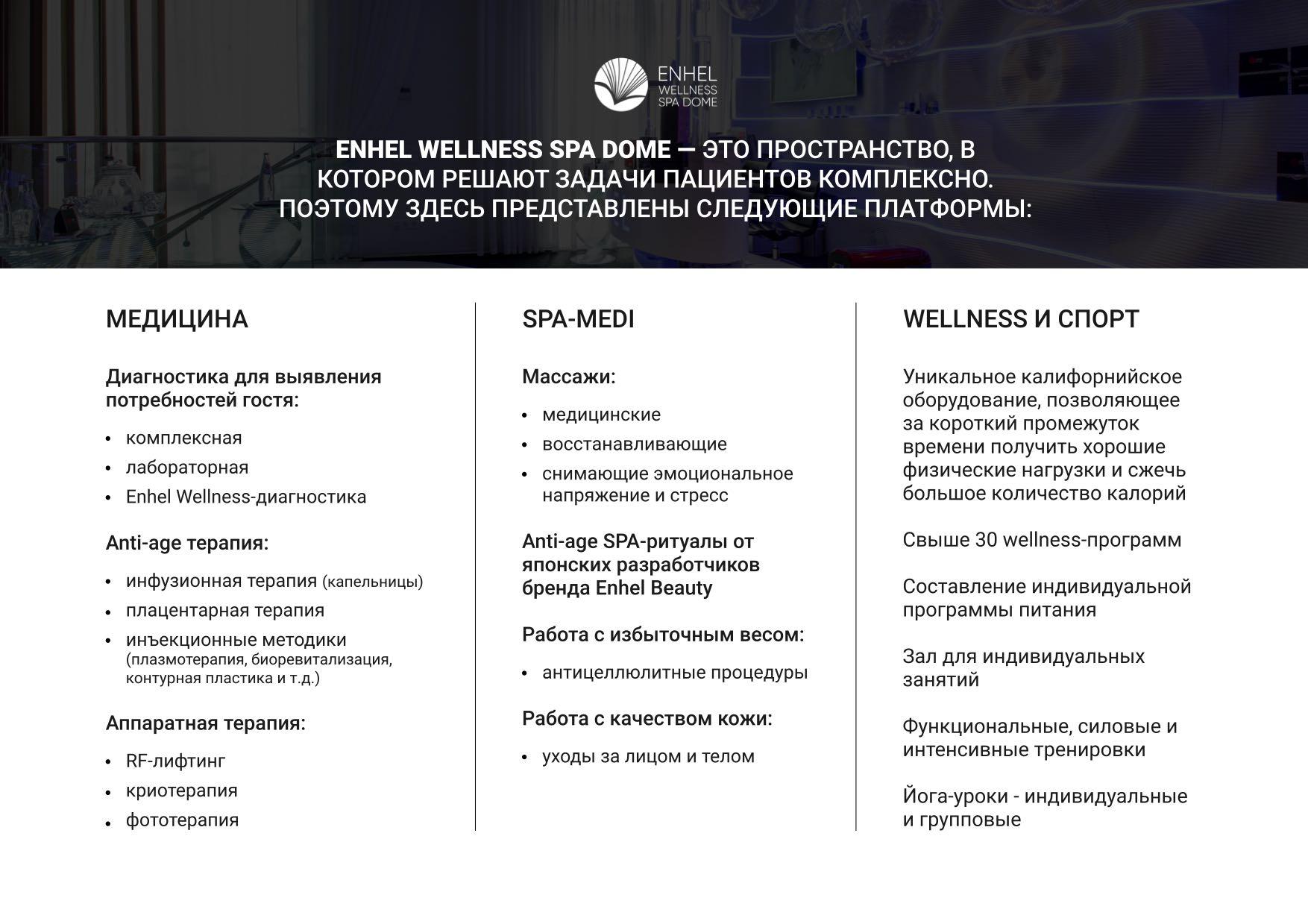 Доступные платформы Enhel Wellness Spa Dome