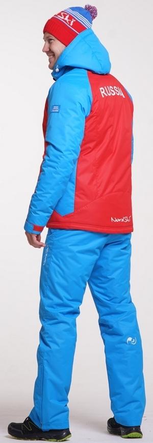 NSM419970 Утеплённый прогулочный лыжный костюм Nordski National Red мужская