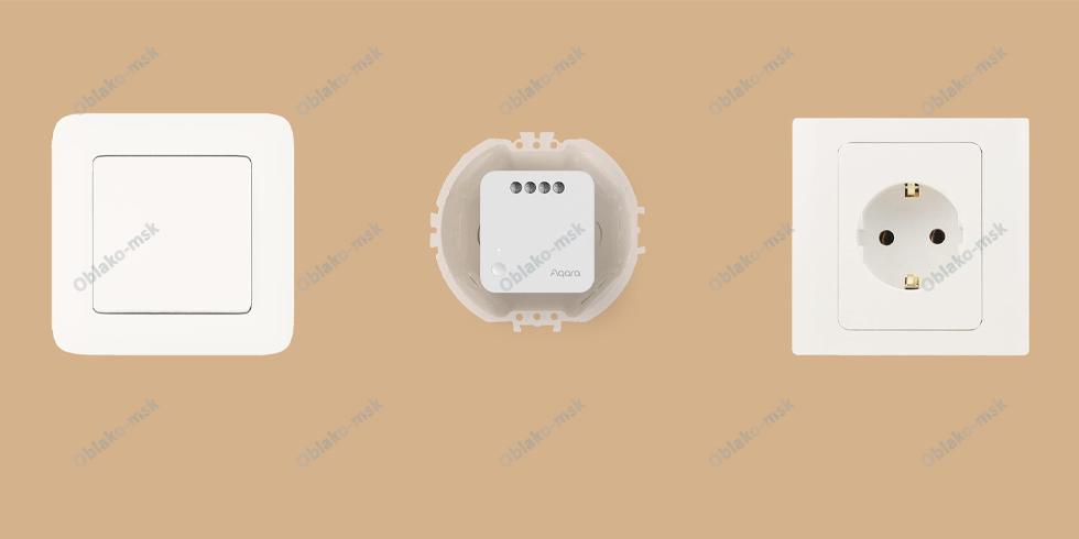Реле одноканальное Aqara Single Switch Module T1 с нулевой линией RU EAC
