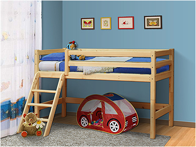 Кровать из массива Мезонин 75