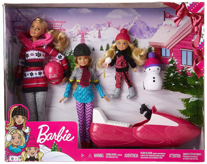 Игровой набор кукла Барби и её Сестры Снежная забава