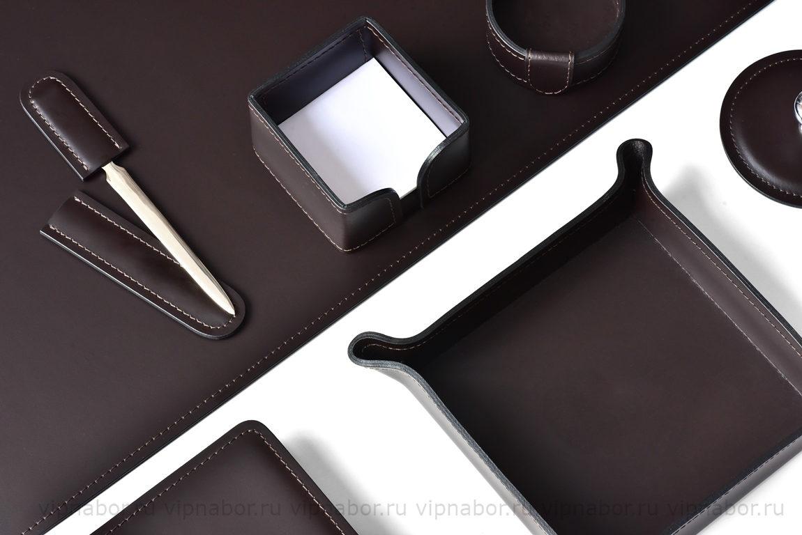 кожаные аксессуары люкс коричневый кожа вип набор руководителя