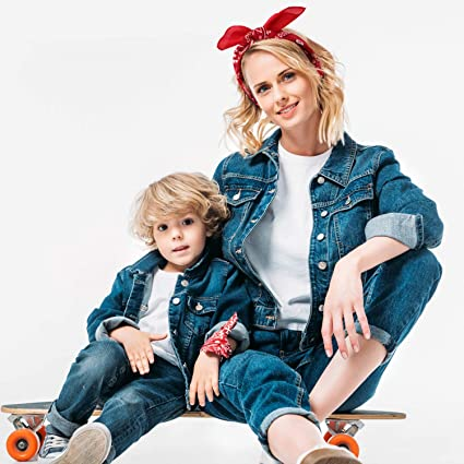 Банданы косынки для мам и детей фото